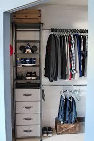 organized kids closet with an idesign modular closet storage system