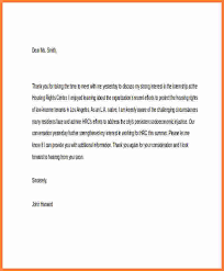 Internship Thank You End Of Internship Thank You Letter Short Note