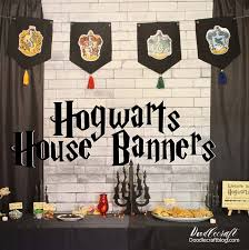 hogwarts house banner diy harry potter week