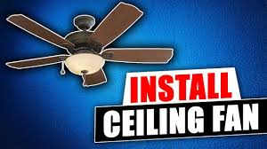 how to install a harbor breeze ceiling fan from