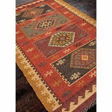red jute rug jute rug rugs flat weave tribal pattern jute red yellow area rug jute