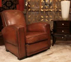 leather club chairs vintage. French-brown-leather-club-chair-with-side-table- Leather Club Chairs Vintage