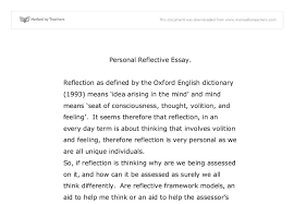personal reflection university education and teaching marked  document image preview