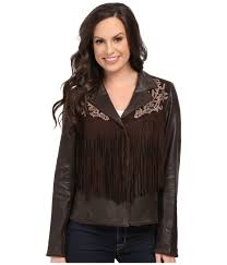 scully women s brown lore exotic fringe jacket