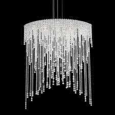 schonbek lighting ch4813n 401h chantant 8 light 110v pendant in stainless steel with clear heritage