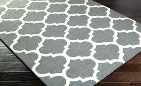 gray geometric rug blue grey