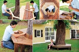 diy outdoor projects. Wonderful Projects AIBenchTreeDIY10 To Diy Outdoor Projects