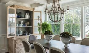 wooden beaded chandelier over the dining table