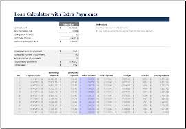 30 Year Mortgage Amortization Schedule Excel 27 Images Of Loan Calculator Excel Template Leseriail Com