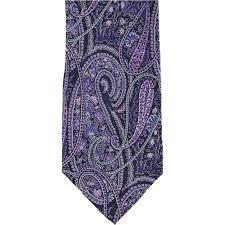 Bloomingdales Mens Large Paisley Self Tied Necktie Mens