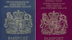 British Passport Design After Brexit British Passports Will Go Back To Blue After Brexit