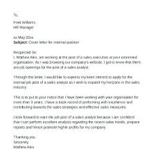 Internal Cover Letter Examples Cover Letter Auditor Sample For
