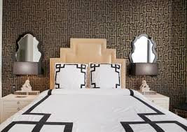art deco headboard on art deco wallpaper for walls with art deco headboard hollywood regency bedroom lily z design