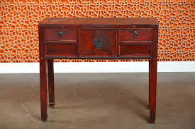 antique asian painted elm wood desk