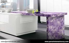 amethyst countertop kitchen