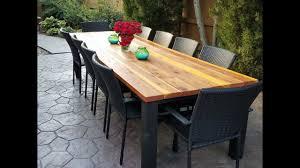 diy outdoor table. DIY Outdoor Dining Table Diy