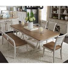 Liberty Furniture Maybelline Relaxed Vintage 6 Piece Trestle Table