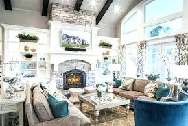 family room decor great decorating ideas modern farmhouse living with red brick fireplace