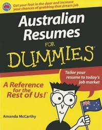 Australian Resumes For Dummies By Amanda McCarthy Cool Resume For Dummies