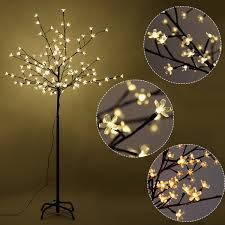 Warm Led Tree Lights Amazon Com Furinho Bush 5ft 120led Christmas Xmas Cherry