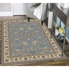 practical olefin rug admire home living artisan tabriz blue green ivory
