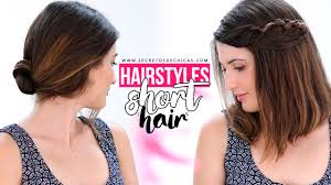 Hairstyle Easy Step By Step easy hairstyles for short hair tutorial step by step youtube 6125 by stevesalt.us