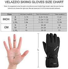 Velazzio Ski Gloves Waterproof Breathable Snowboard Gloves 3m Thinsulate Insulated Warm Winter Snow Gloves Fits Both Men Women