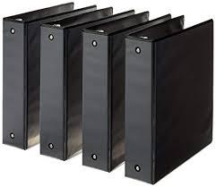 4 Binder Amazon Com Amazonbasics 3 Ring Binder 2 Inch 4 Pack Black