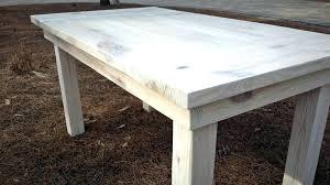 white farm table. White Farm Table Farmhouse Weathered Oak With Ebony Legs Matching Benches I