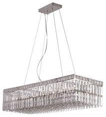 polished chrome and crystal 12 light chandelier island light