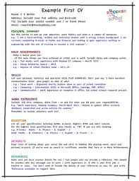Wondrous My First Resume Homey Inspiration How To Write 17