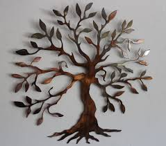 magnificent decorative wrought iron tree wall art incredible wood live leaves branches best designing interior decor