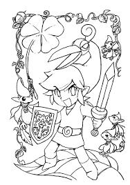 Zelda Nintendo 5 Coloriage Zelda Coloriages Pour Enfants