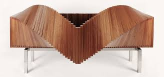 News: The Slatted, Morphing 'Wave' Cabinet Opens Up Like a Paper Fan