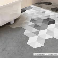wall decal floor tile stickers black and white gray diy anti slip self adhesive waterproof wall art for hotel bathroom bedroom decal for wall decal for