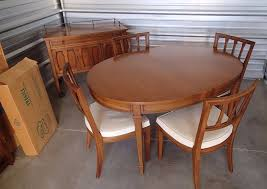 mid century modern dining set drexel triune oval table server 4 chairs herie drexel