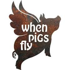 metal art for less on metal pig wall art with rustic metal pig when pigs fly sign overstock shopping the