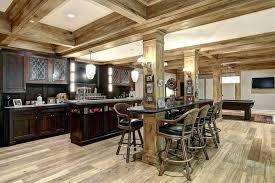 S Decorating Ideas For Basements Amazing Rustic Finished Basement  Kitchen Decor