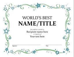 Sample Awards Certificate Certificates Simple Award Certificate Templates Designs