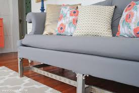 thrift sofa makeover