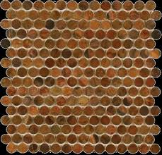 Basement bar area backsplash wall in x in Copper Perth Penny Rounds Antique
