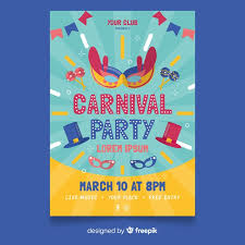 Free Carnival Poster Template Carnival Party Flyer Template Nohat
