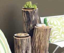 diy tree stump side table ingenious projects that turn wood logs into outdoor furniture awesome tree trunk table 1