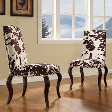 Cool Fun Dining Room Furniture Two Series Of Cowhide Chairs Ideas