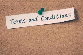 terms and conditions terms