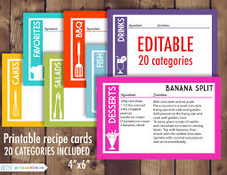 28 Images Of Editable 4x6 Recipe Card Template Leseriail Com