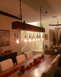 wood chandelier lighting. Barn Wood Chandelier With Vintage Bulbs Lighting