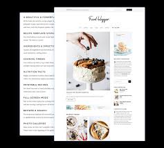 1 Food Blogger Recipe Wordpress Theme 2019 For Chefs Cooks Bakers