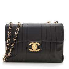 chanel vintage bag. chanel vintage vertical quilted lambskin xl jumbo flap bag