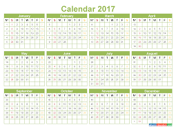 yearly calendar 2017 template printable 2017 calendar with week numbers pdf image word